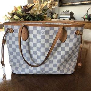 Louis Vuitton Neverfull PM Damier Azur Bag